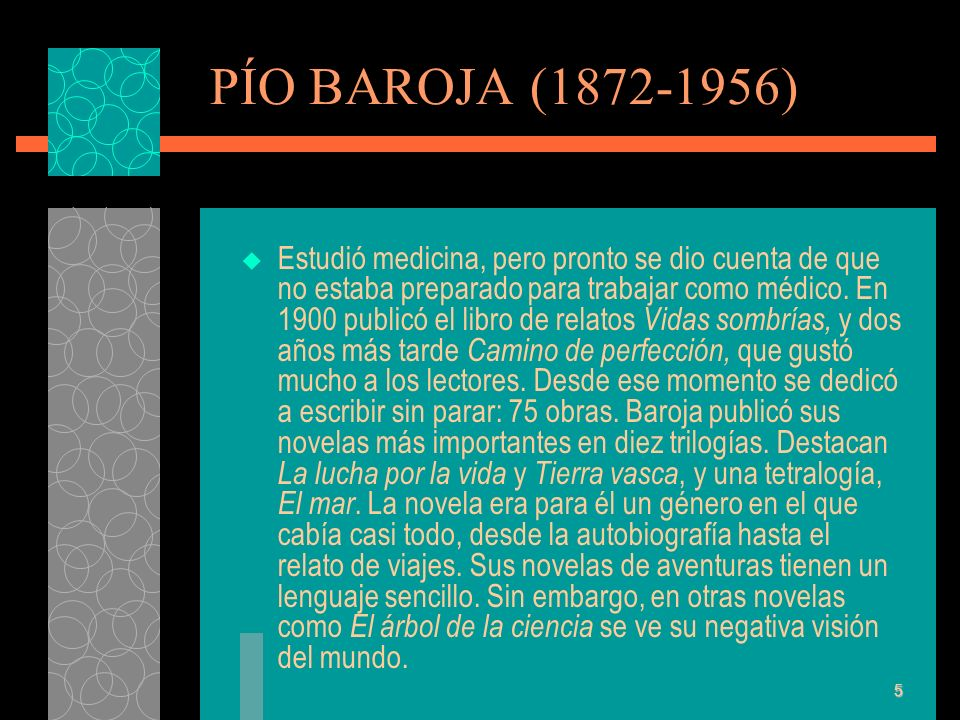 PÍO BAROJA (1872-1956)