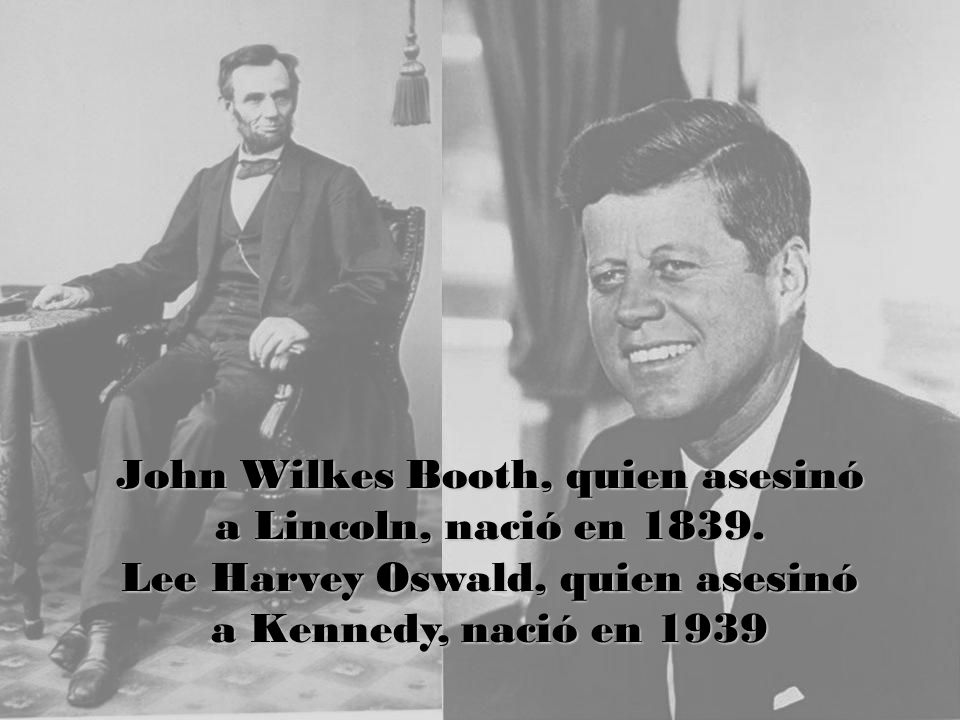 John Wilkes Booth, quien asesinó a Lincoln, nació en 1839.