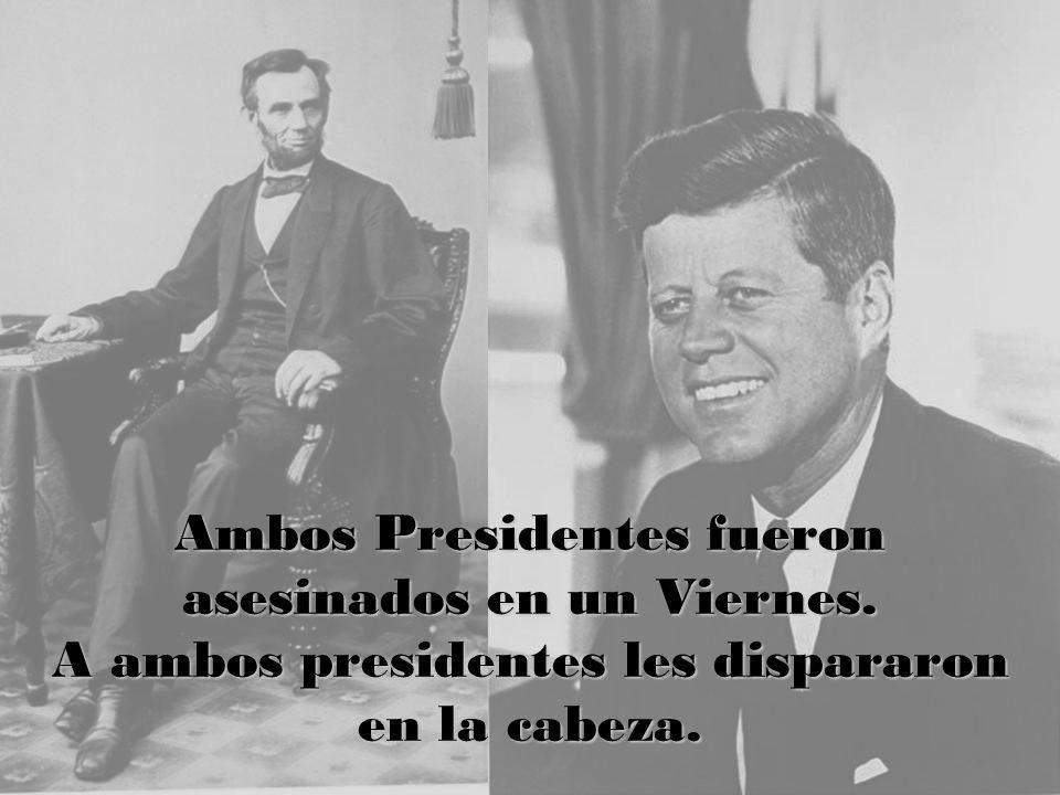 Ambos Presidentes fueron asesinados en un Viernes.