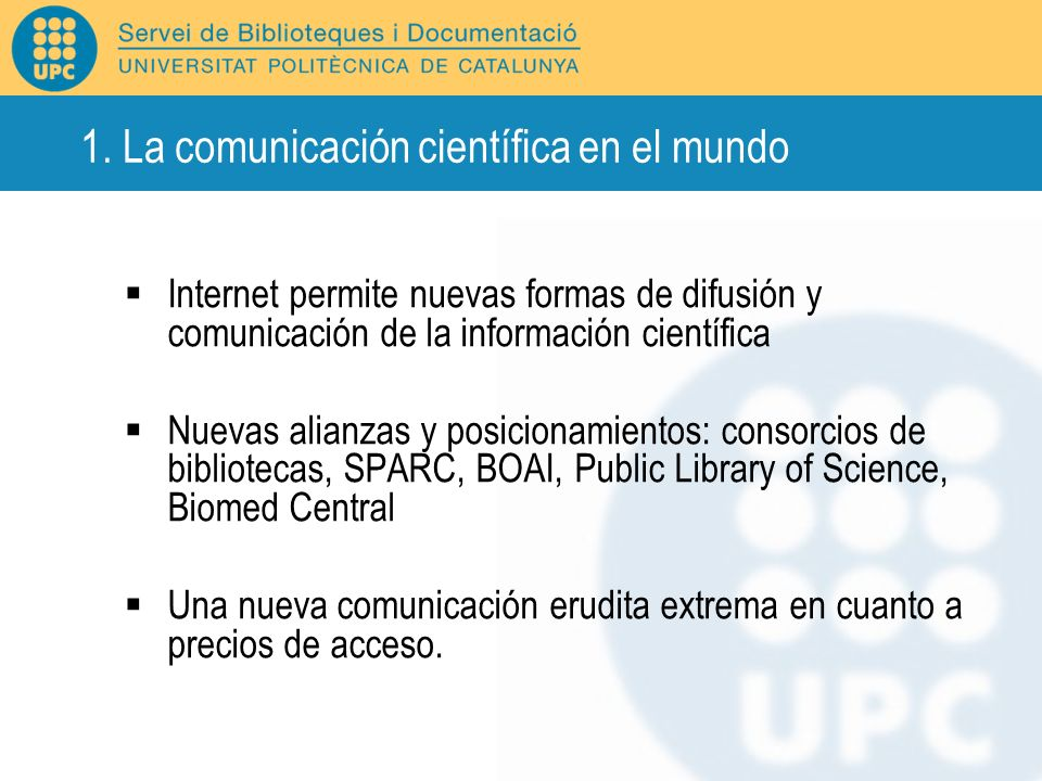 1. La comunicación científica en el mundo