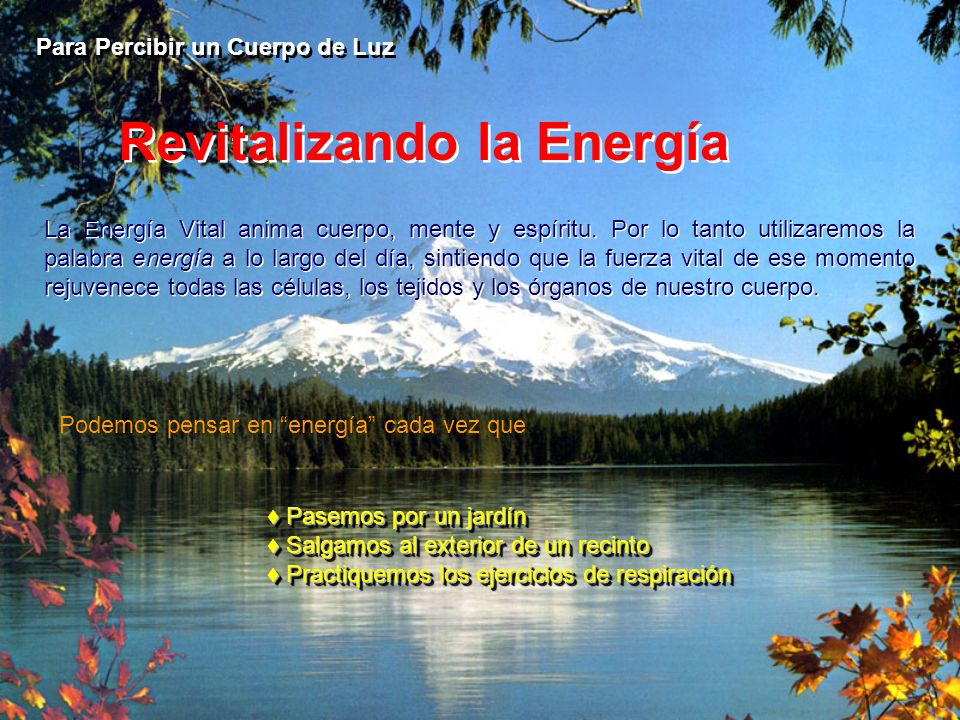Revitalizando la Energía