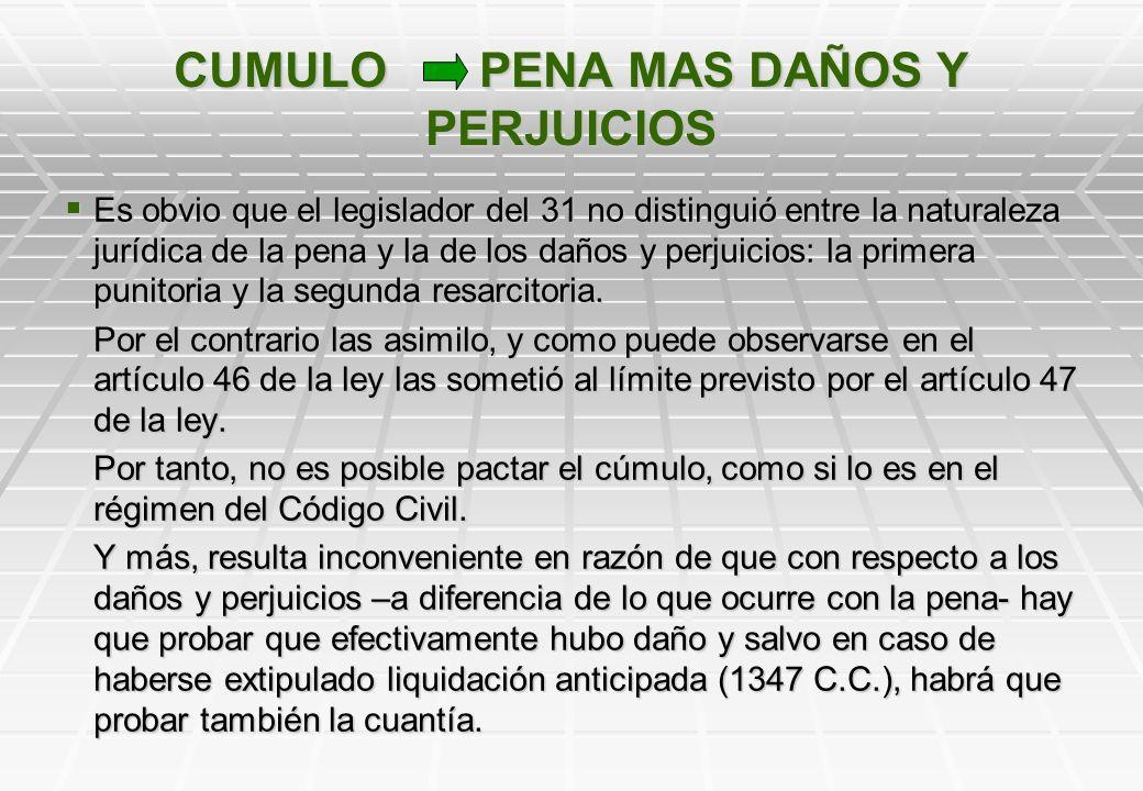 CUMULO PENA MAS DAÑOS Y PERJUICIOS