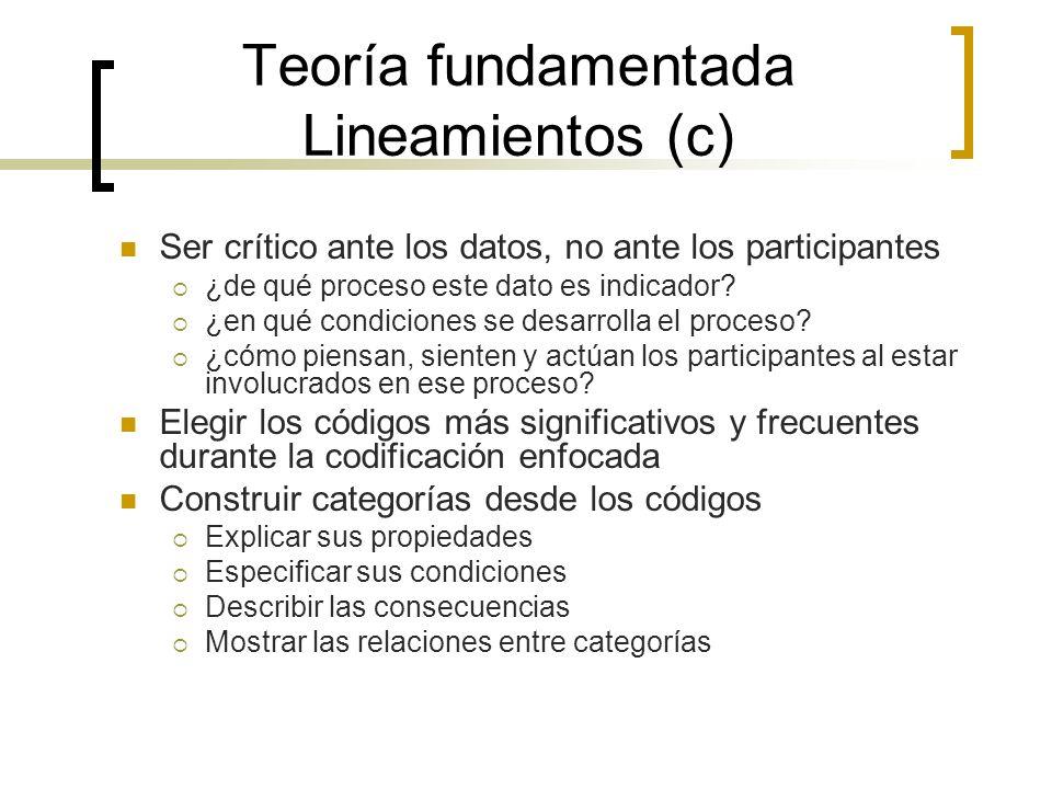 Teoría fundamentada Lineamientos (c)