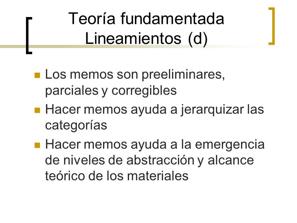Teoría fundamentada Lineamientos (d)