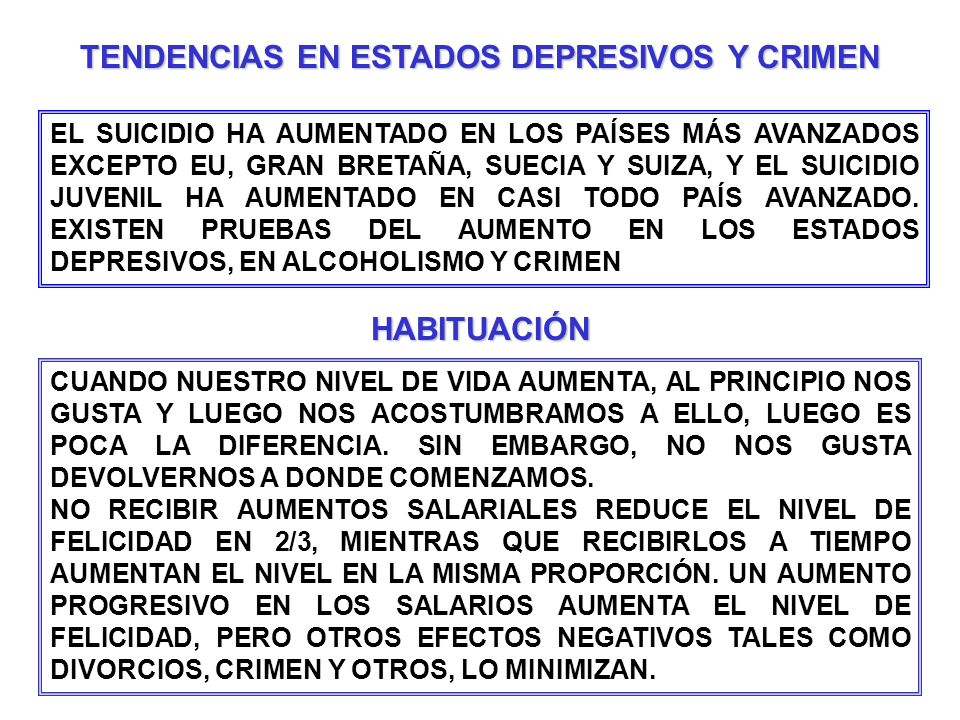 TENDENCIAS EN ESTADOS DEPRESIVOS Y CRIMEN