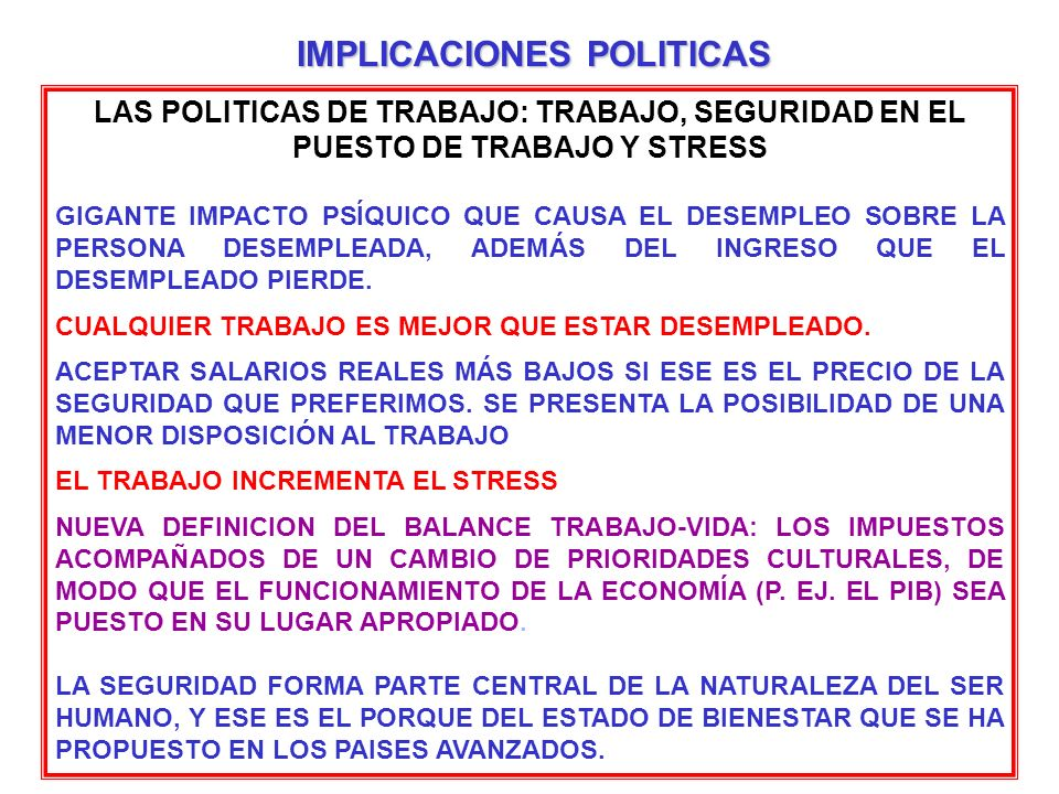 IMPLICACIONES POLITICAS