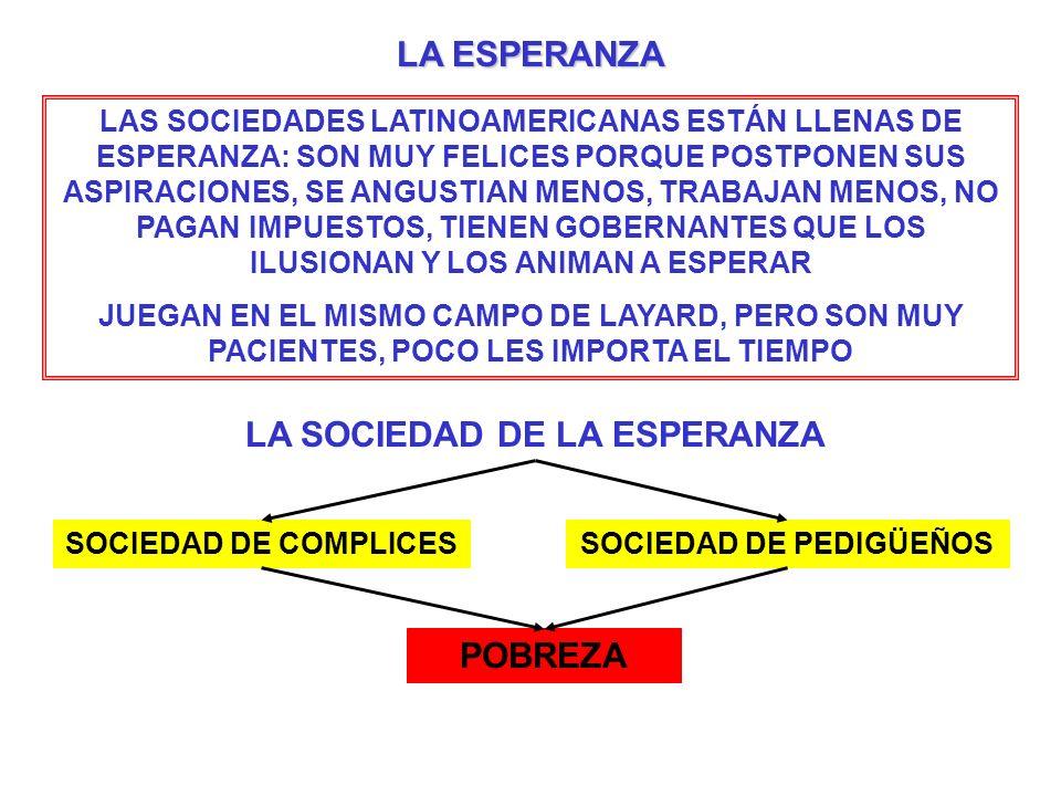 LA SOCIEDAD DE LA ESPERANZA SOCIEDAD DE PEDIGÜEÑOS