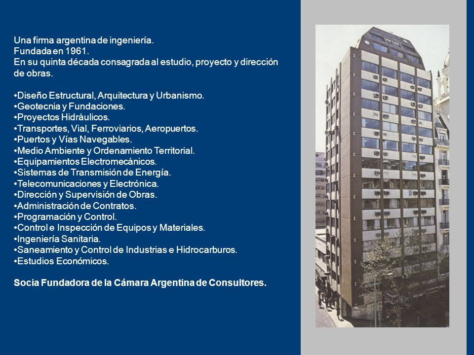 Una firma argentina de ingeniería.