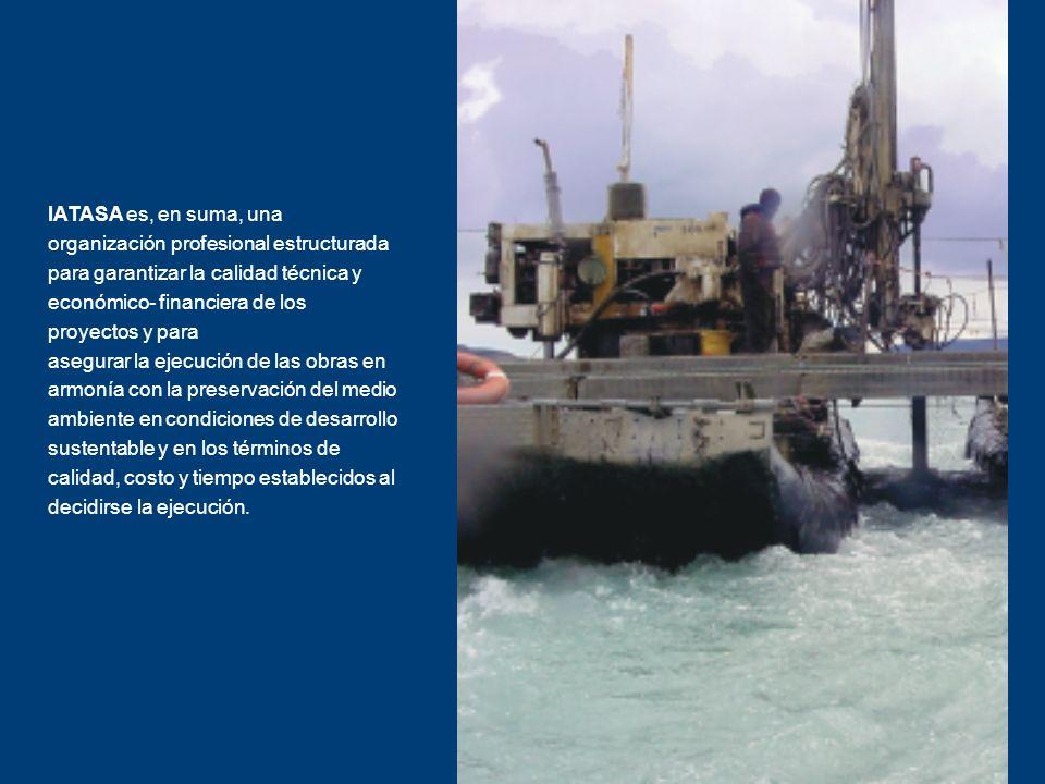 IATASA es, en suma, una organización profesional estructurada para garantizar la calidad técnica y económico- financiera de los proyectos y para