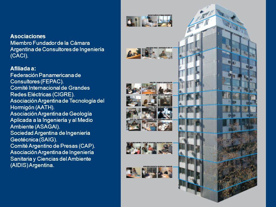Asociaciones Miembro Fundador de la Cámara. Argentina de Consultores de Ingeniería. (CACI). Afiliada a: