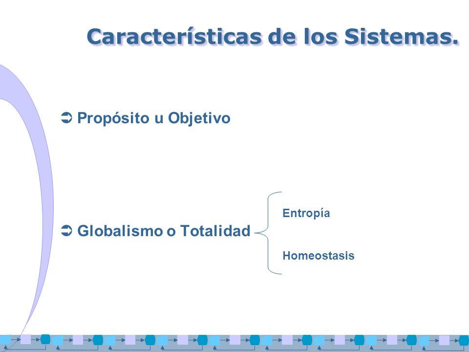 Características de los Sistemas.