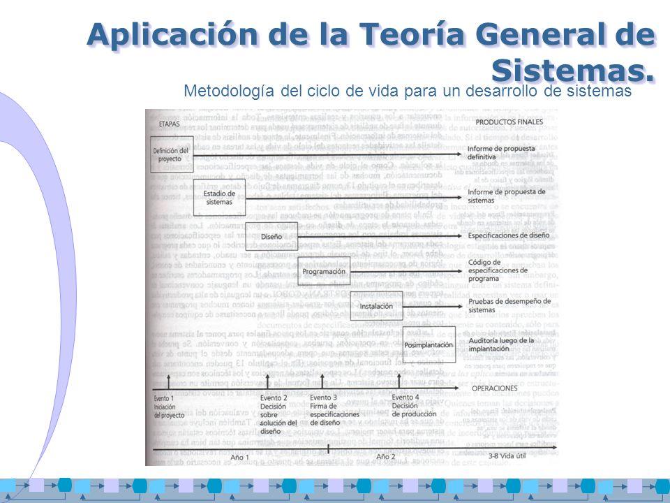 Aplicación de la Teoría General de Sistemas.