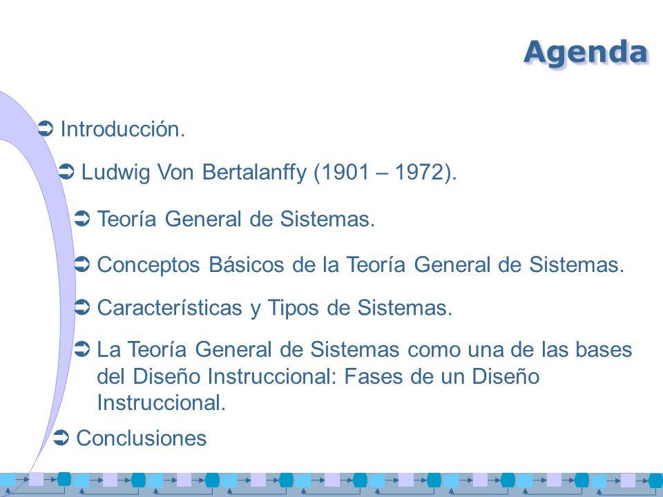 Agenda Introducción. Ludwig Von Bertalanffy (1901 – 1972).