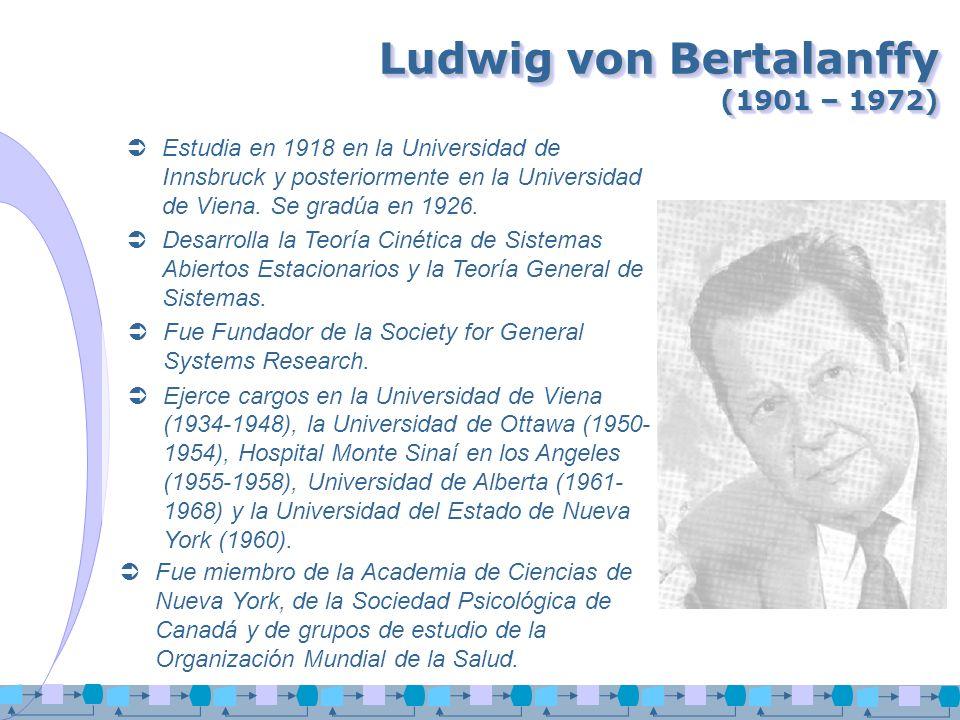 Ludwig von Bertalanffy (1901 – 1972)