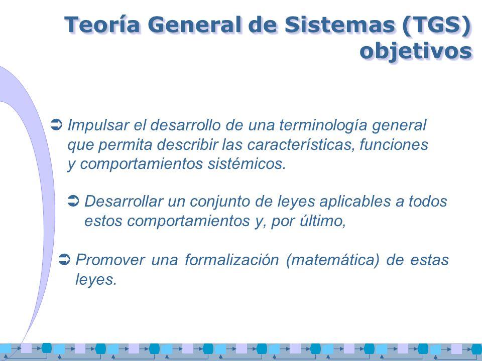 Teoría General de Sistemas (TGS) objetivos
