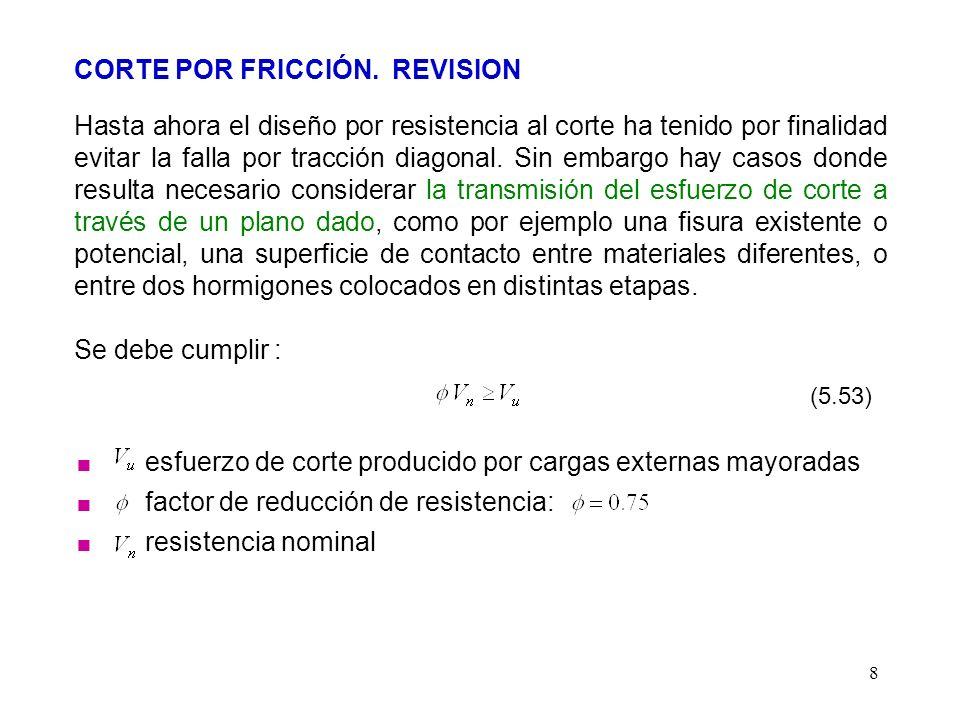 CORTE POR FRICCIÓN. REVISION