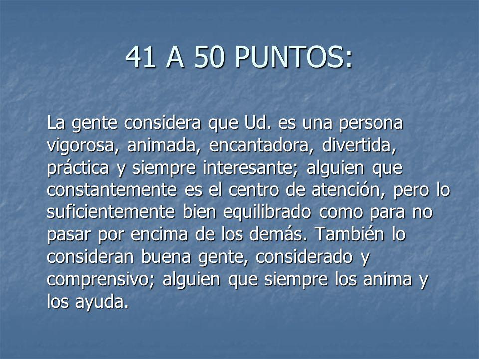 41 A 50 PUNTOS: