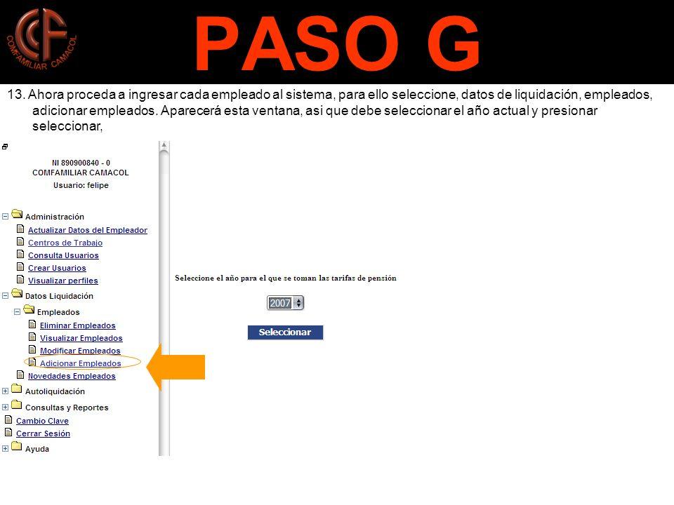 PASO G