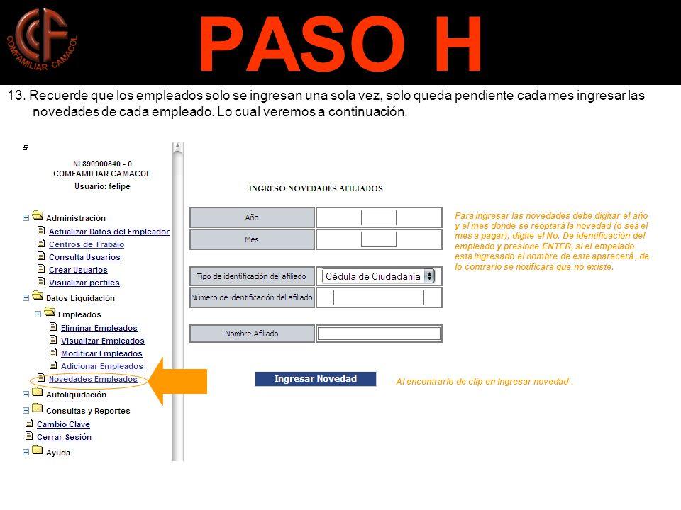 PASO H