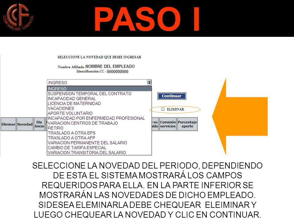 PASO I PASO J.