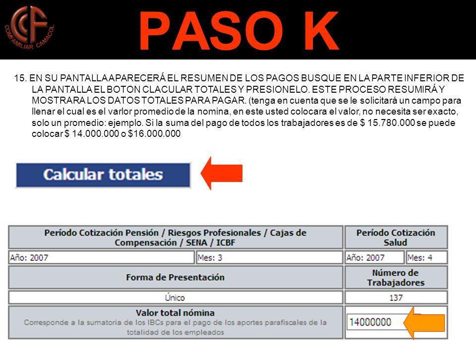 PASO K