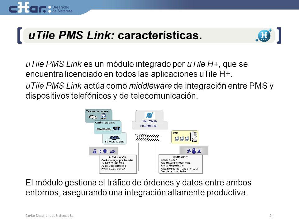 uTile PMS Link: características.