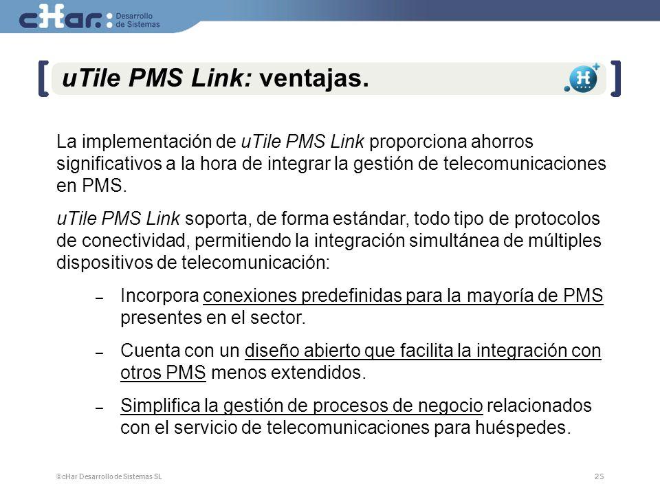 uTile PMS Link: ventajas.