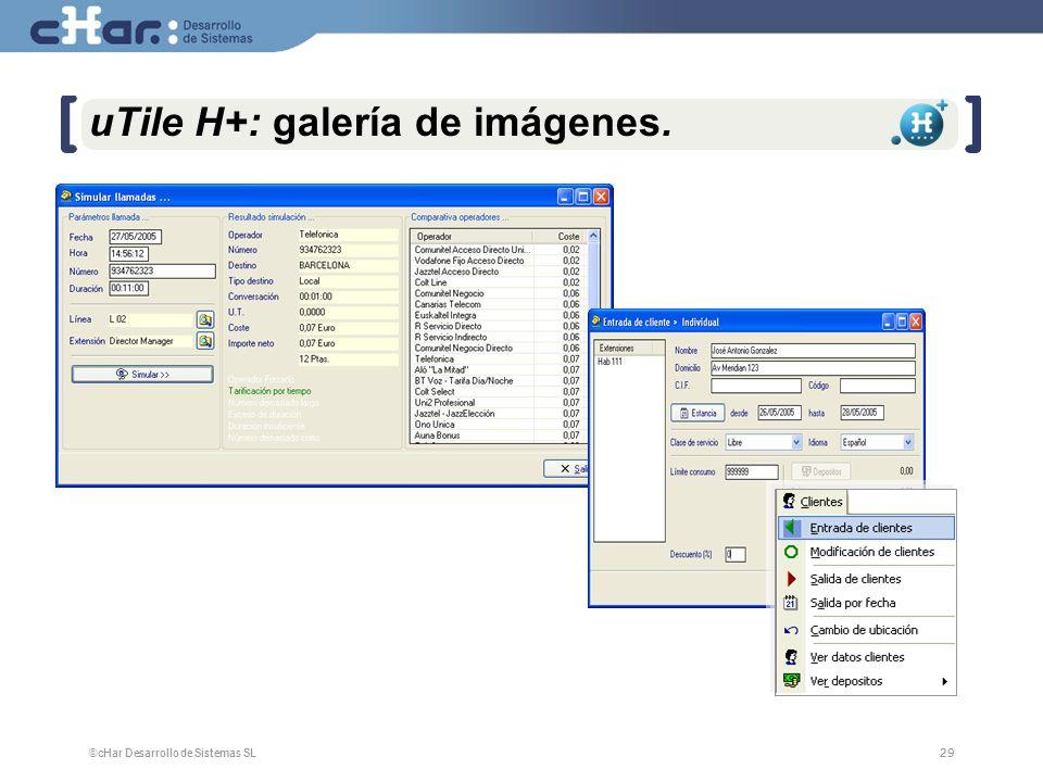 uTile H+: galería de imágenes.