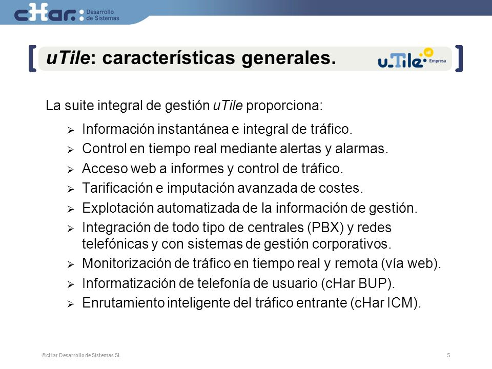 uTile: características generales.
