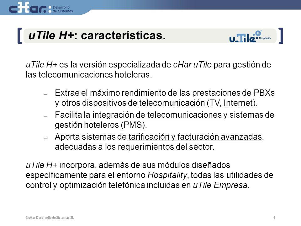 uTile H+: características.