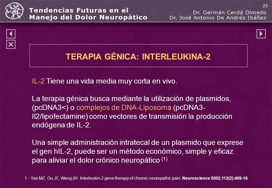 TERAPIA GÉNICA: INTERLEUKINA-2