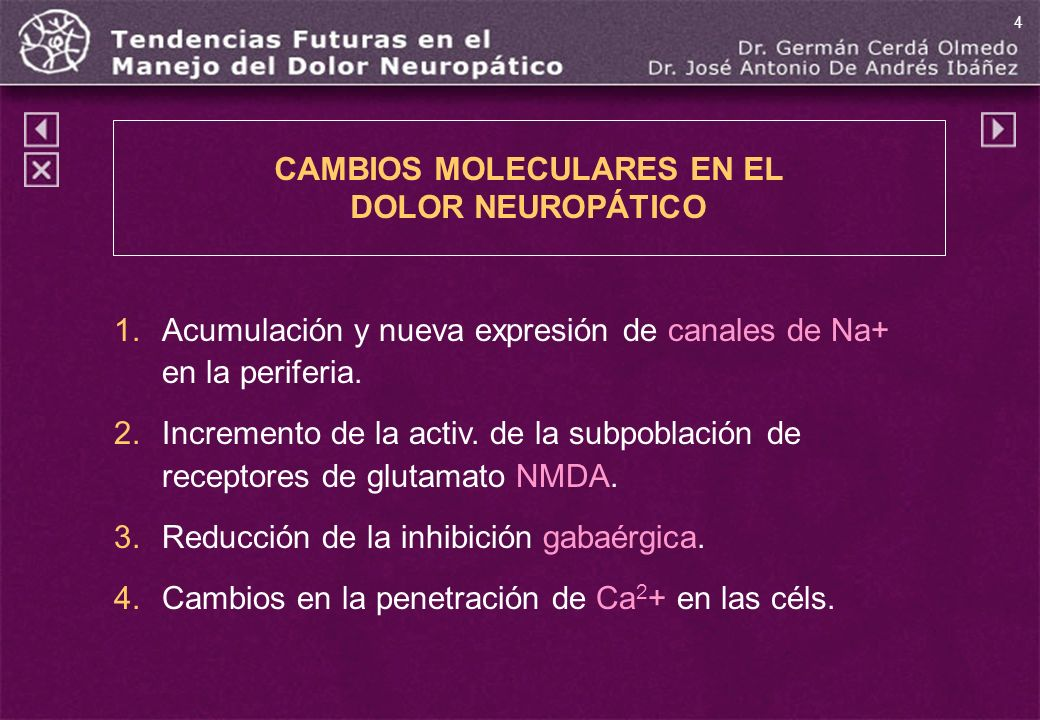 CAMBIOS MOLECULARES EN EL DOLOR NEUROPÁTICO