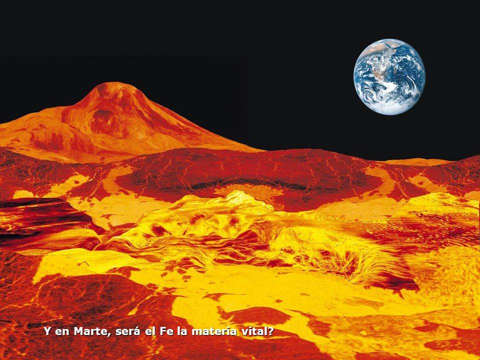 Y en Marte, será el Fe la materia vital