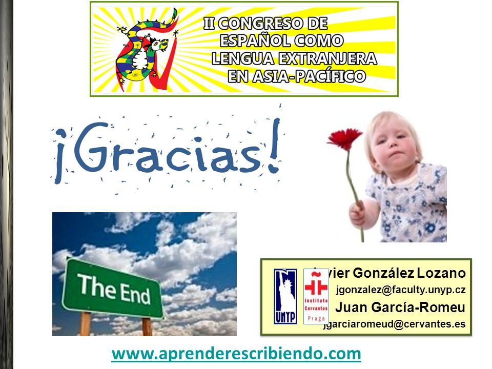 www.aprenderescribiendo.com Javier González Lozano Juan García-Romeu