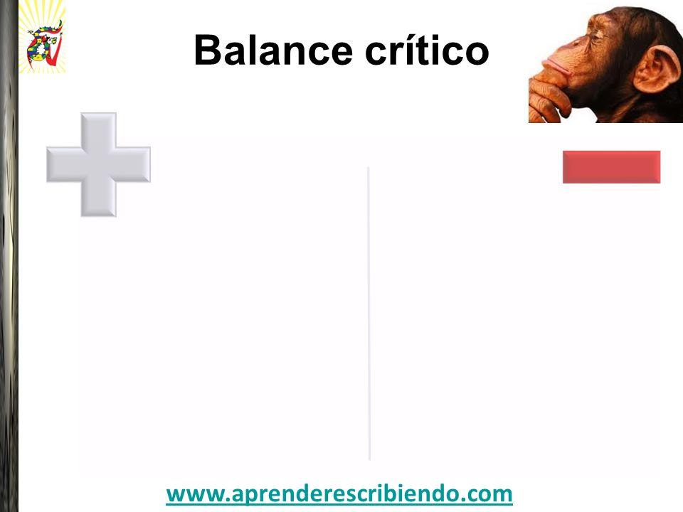 Balance crítico www.aprenderescribiendo.com