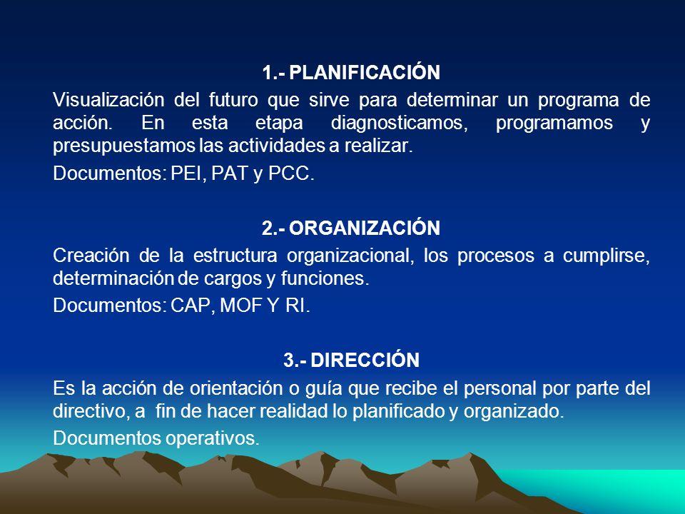 1.- PLANIFICACIÓN