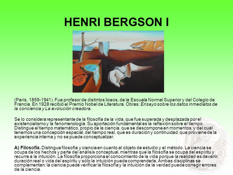 HENRI BERGSON I
