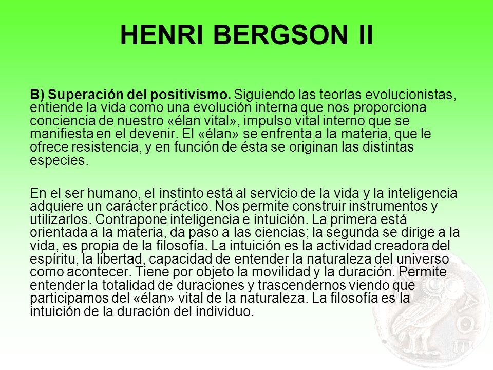 HENRI BERGSON II