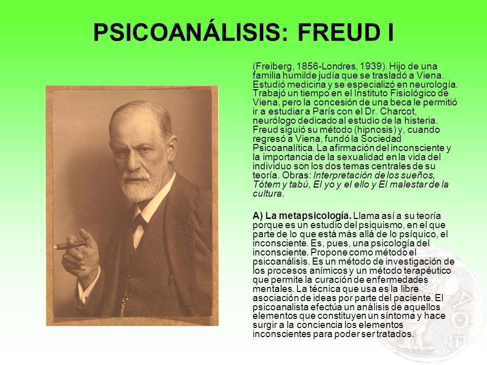 PSICOANÁLISIS: FREUD I