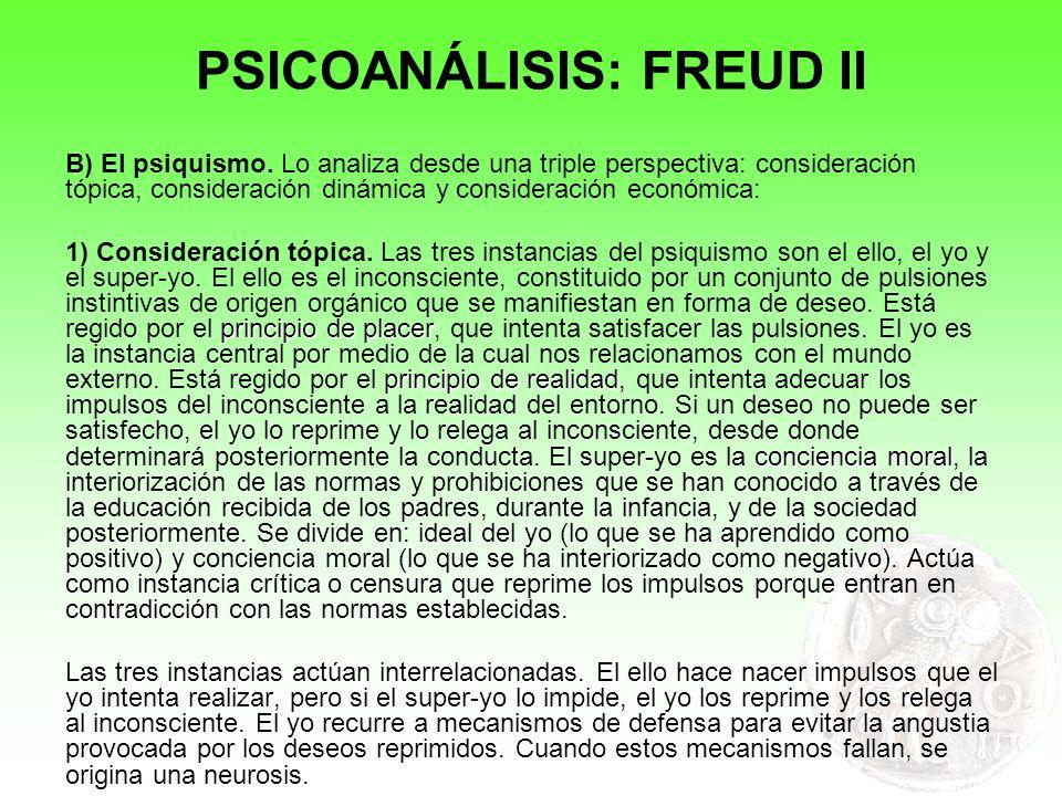 PSICOANÁLISIS: FREUD II