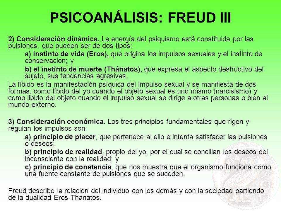 PSICOANÁLISIS: FREUD III