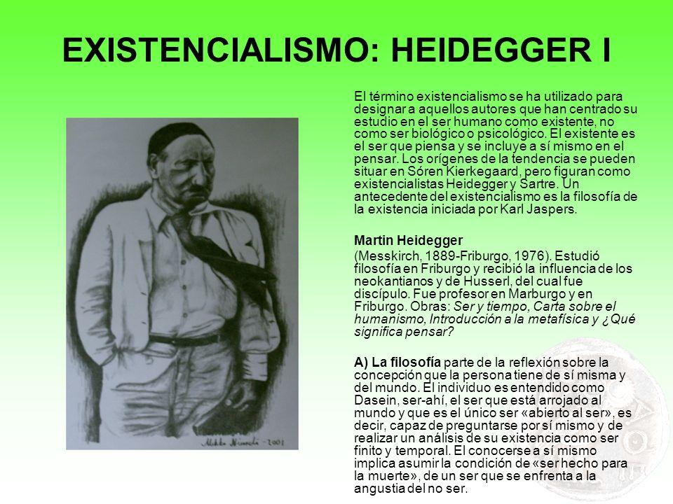EXISTENCIALISMO: HEIDEGGER I