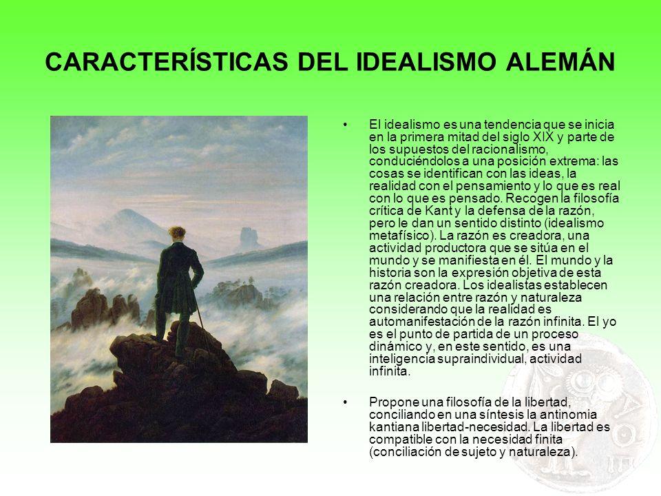 CARACTERÍSTICAS DEL IDEALISMO ALEMÁN