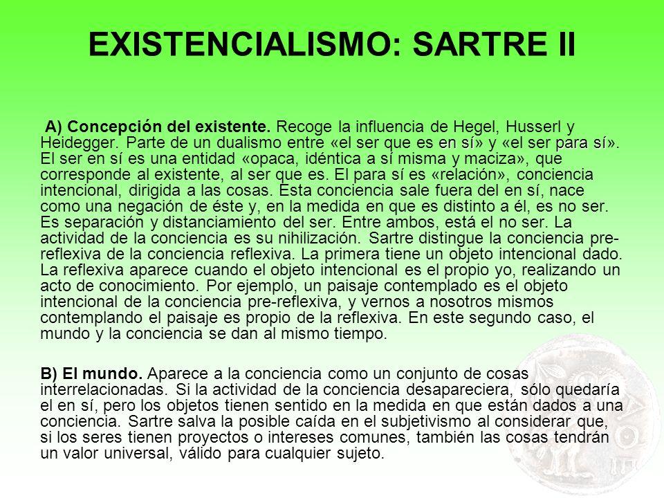 EXISTENCIALISMO: SARTRE II