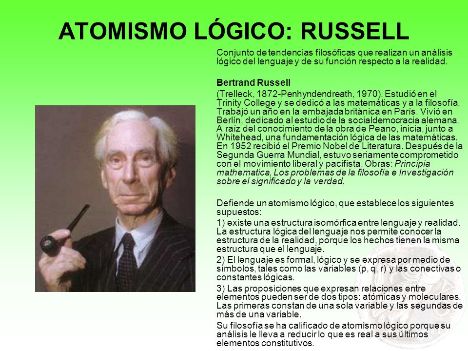ATOMISMO LÓGICO: RUSSELL