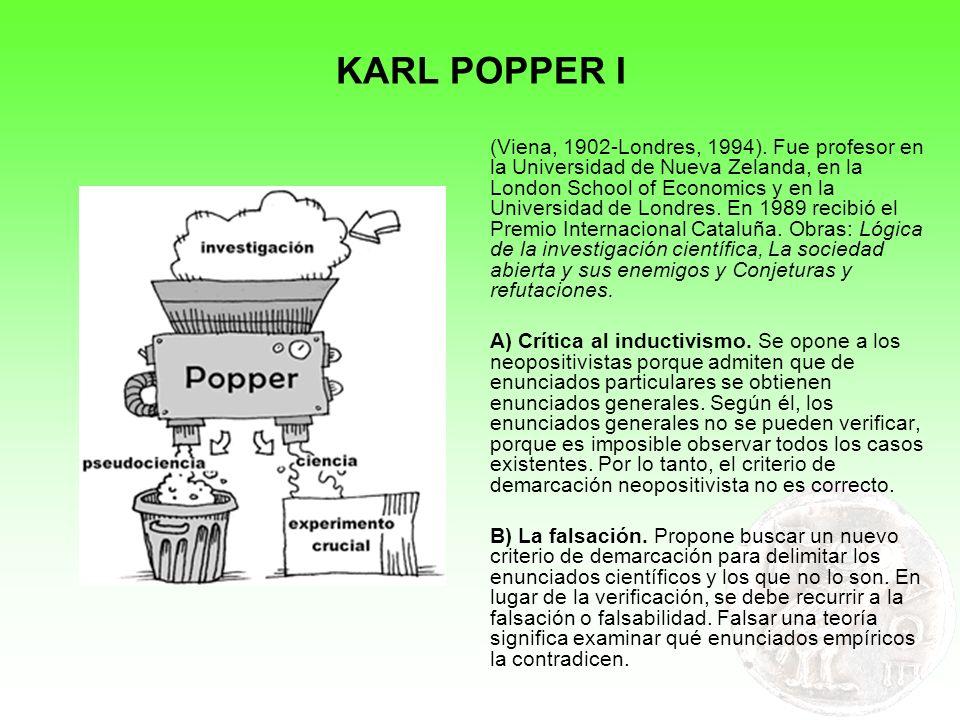 KARL POPPER I