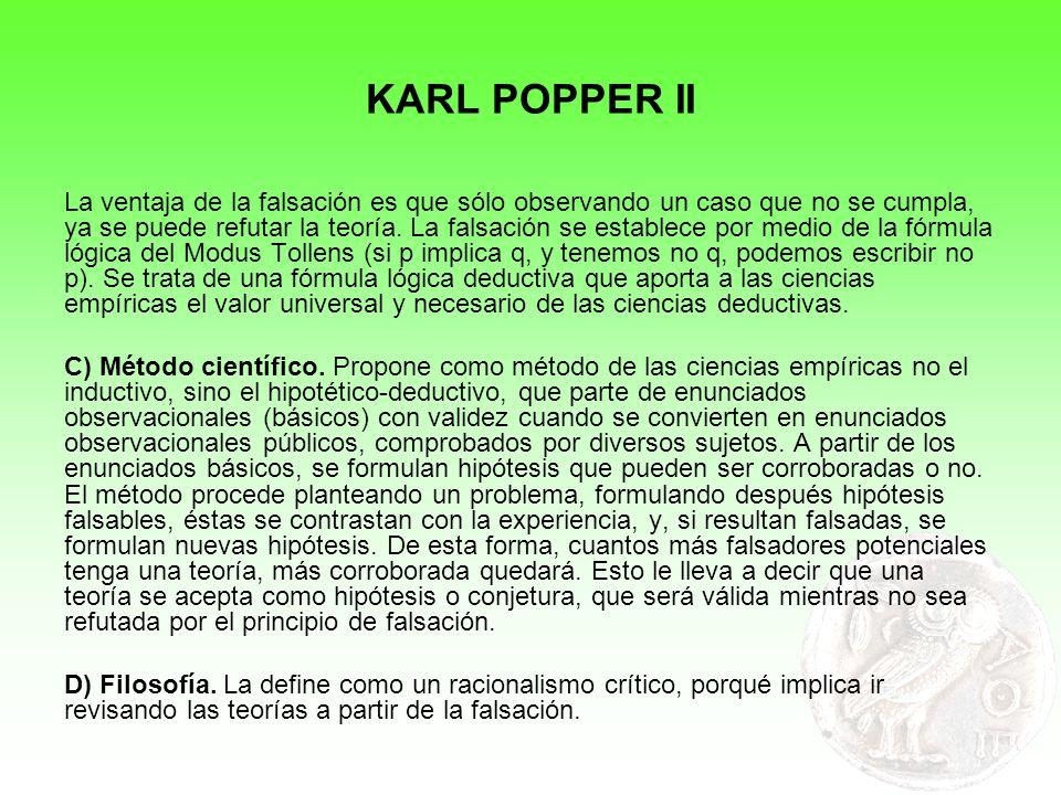 KARL POPPER II