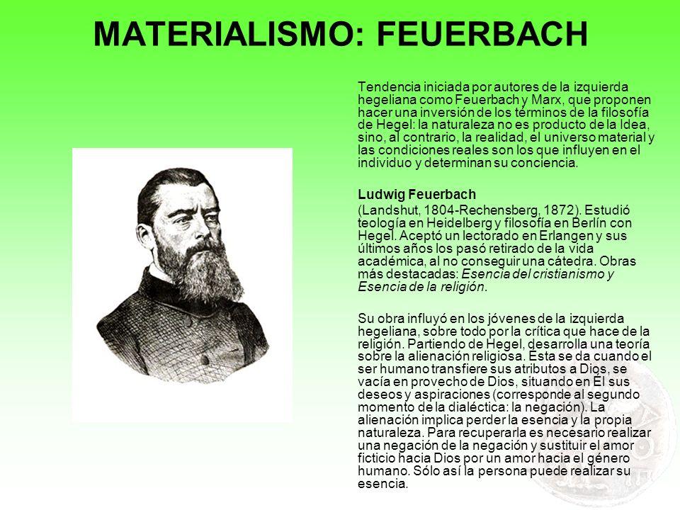 MATERIALISMO: FEUERBACH