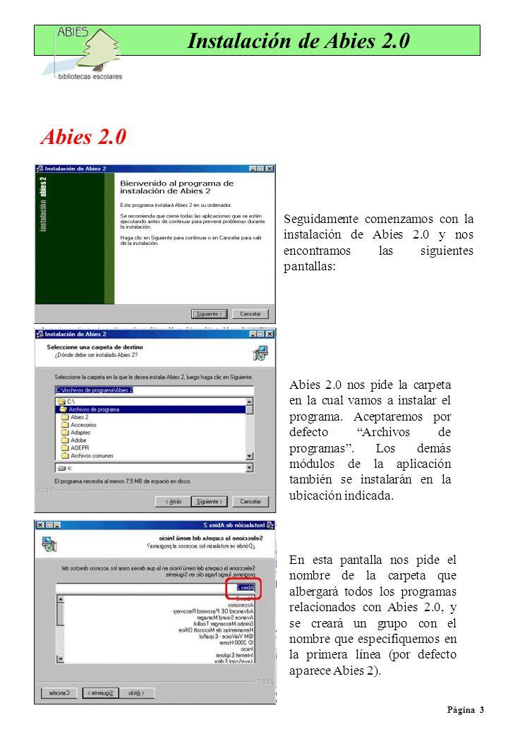 Instalación de Abies 2.0 Abies 2.0