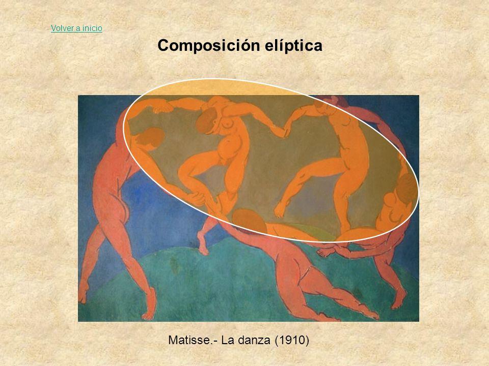 Volver a inicio Composición elíptica Matisse.- La danza (1910)